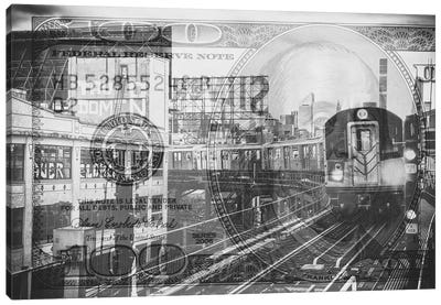 Manhattan Dollars - Line 7 NYC Canvas Art Print