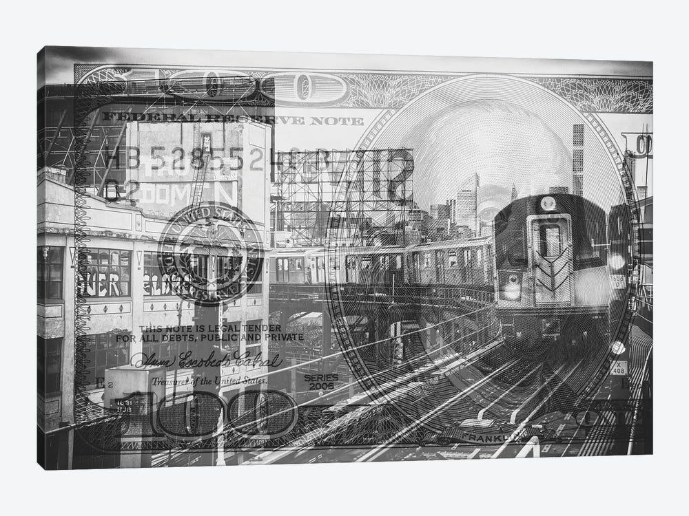 Manhattan Dollars - Line 7 NYC by Philippe Hugonnard 1-piece Canvas Art Print
