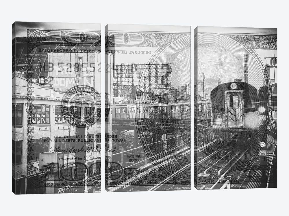 Manhattan Dollars - Line 7 NYC by Philippe Hugonnard 3-piece Art Print
