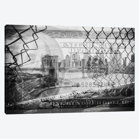Manhattan Dollars - Between The Fence Canvas Print #PHD1461} by Philippe Hugonnard Canvas Print