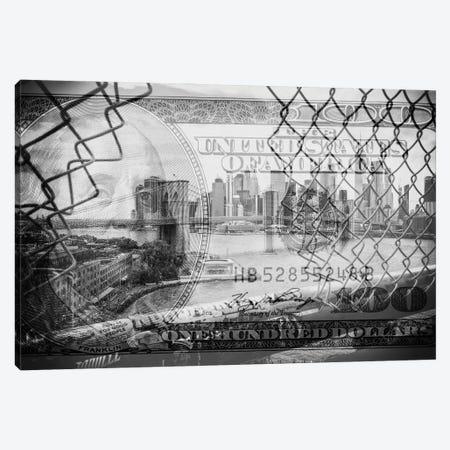 Manhattan Dollars - Between The Fence Canvas Print #PHD1461} by Philippe Hugonnard Canvas Print
