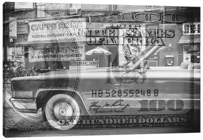 Manhattan Dollars - Cadillac Canvas Art Print
