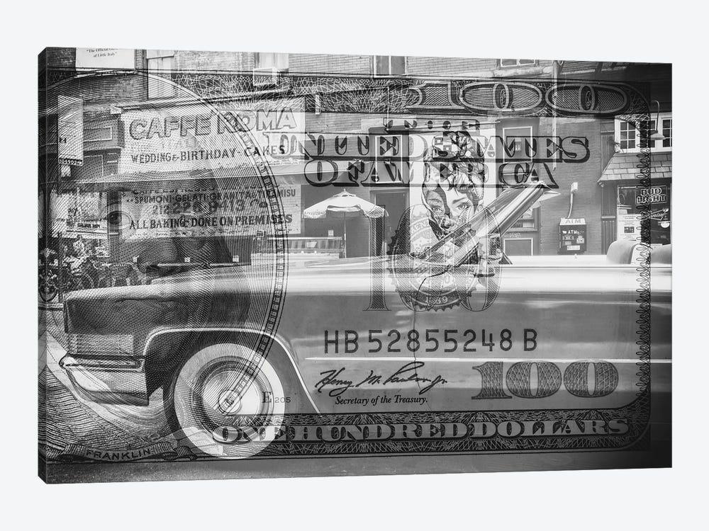 Manhattan Dollars - Cadillac by Philippe Hugonnard 1-piece Canvas Print