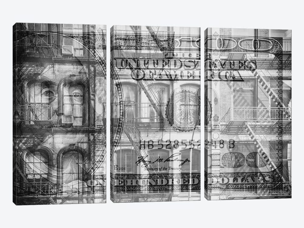 Manhattan Dollars - Soho by Philippe Hugonnard 3-piece Canvas Art