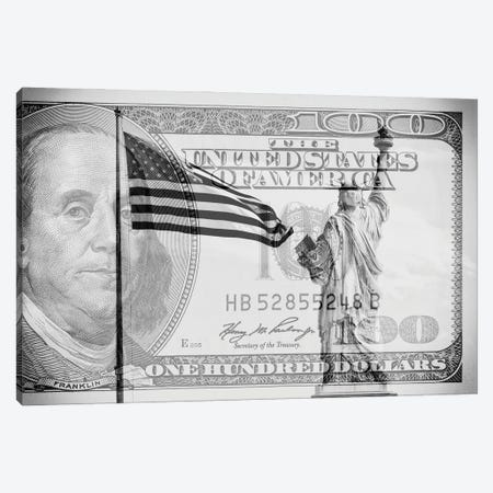 Manhattan Dollars - Liberty Canvas Print #PHD1464} by Philippe Hugonnard Canvas Artwork