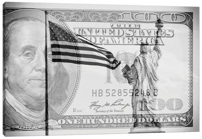 Manhattan Dollars - Liberty Canvas Art Print