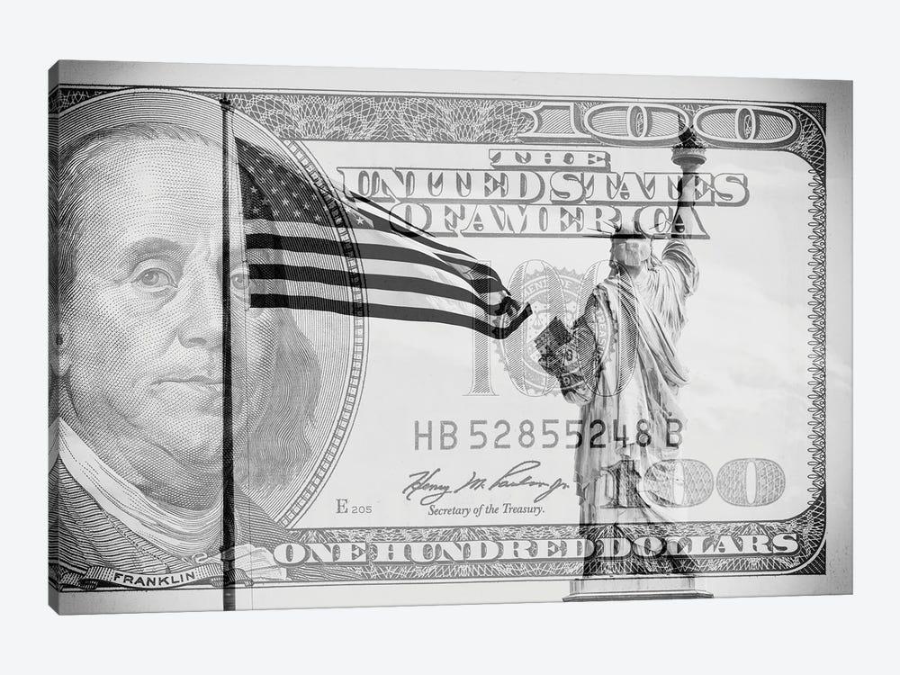 Manhattan Dollars - Liberty by Philippe Hugonnard 1-piece Canvas Print