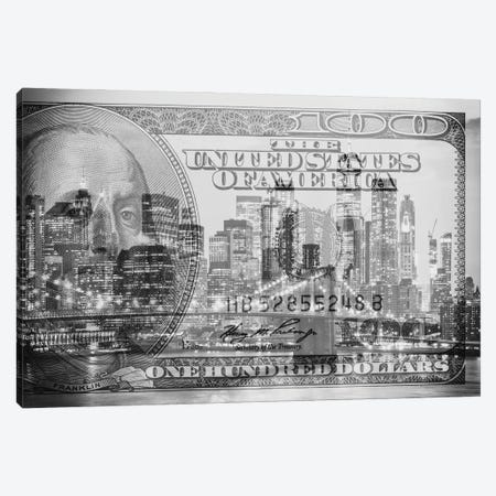 Manhattan Dollars - New York City Canvas Print #PHD1465} by Philippe Hugonnard Canvas Art