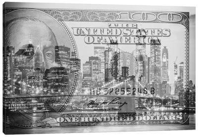 Manhattan Dollars - New York City Canvas Art Print