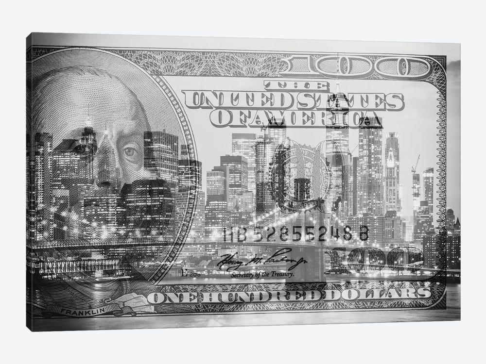 Manhattan Dollars - New York City by Philippe Hugonnard 1-piece Canvas Artwork