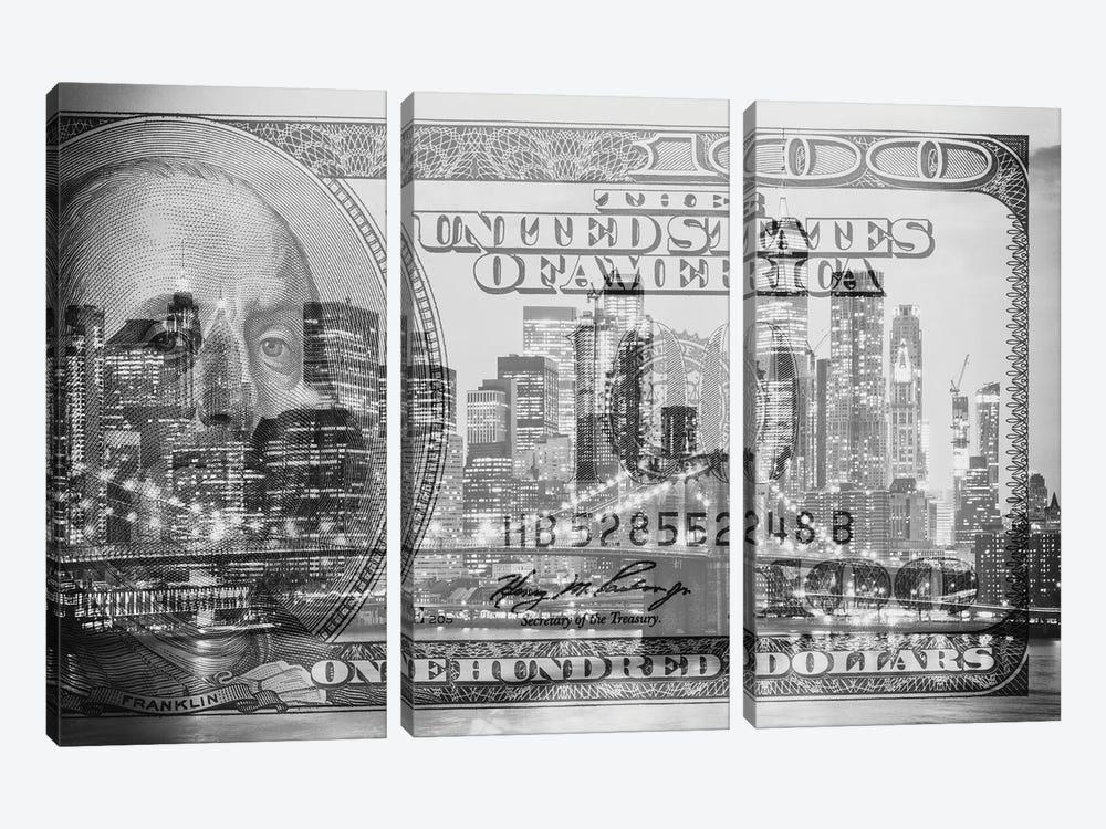 Manhattan Dollars - New York City by Philippe Hugonnard 3-piece Canvas Artwork