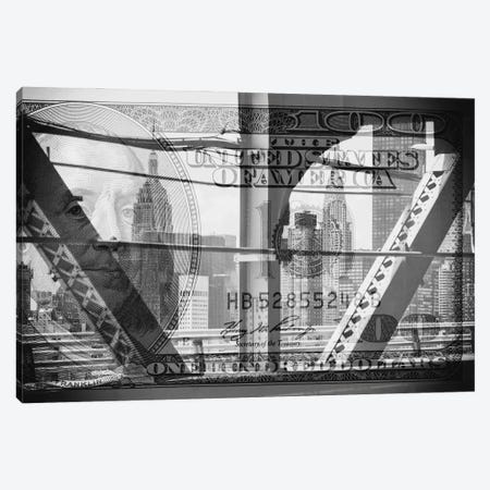 Manhattan Dollars - Between The Steel Canvas Print #PHD1466} by Philippe Hugonnard Canvas Art