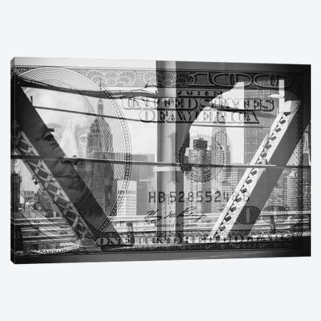 Manhattan Dollars - Between The Steel Canvas Print #PHD1466} by Philippe Hugonnard Canvas Art