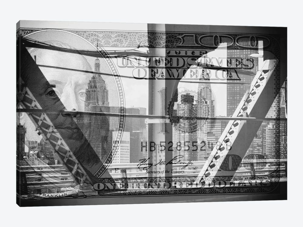 Manhattan Dollars - Between The Steel by Philippe Hugonnard 1-piece Canvas Art Print