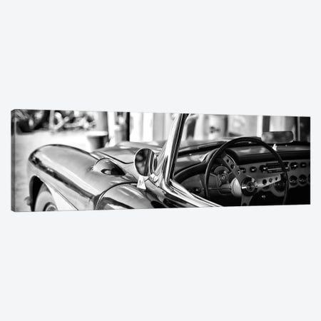 Classic Chevrolet Corvette in B&W Canvas Print #PHD146} by Philippe Hugonnard Canvas Wall Art