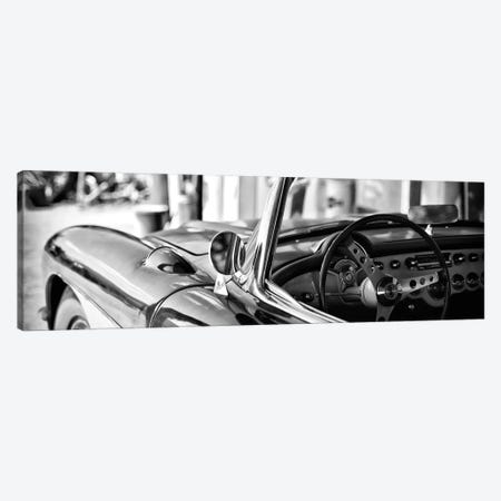 Classic Chevrolet Corvette in B&W Canvas Print #PHD146} by Philippe Hugonnard Canvas Wall Art