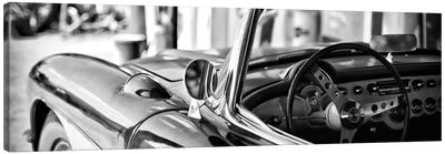 Classic Chevrolet Corvette in B&W Canvas Art Print