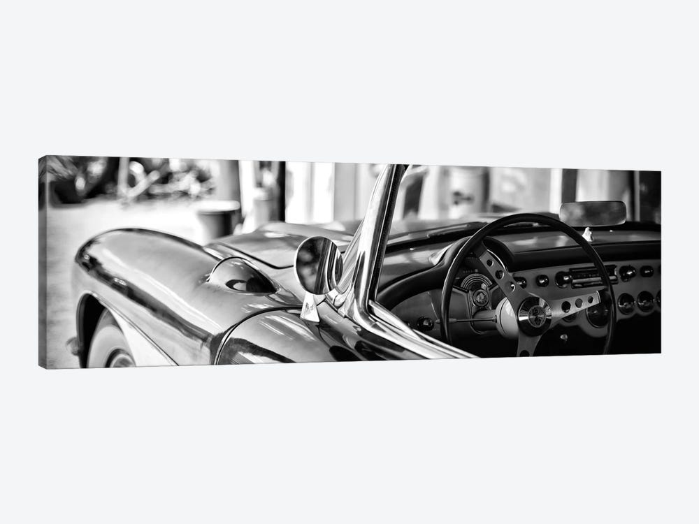 Classic Chevrolet Corvette in B&W by Philippe Hugonnard 1-piece Canvas Print