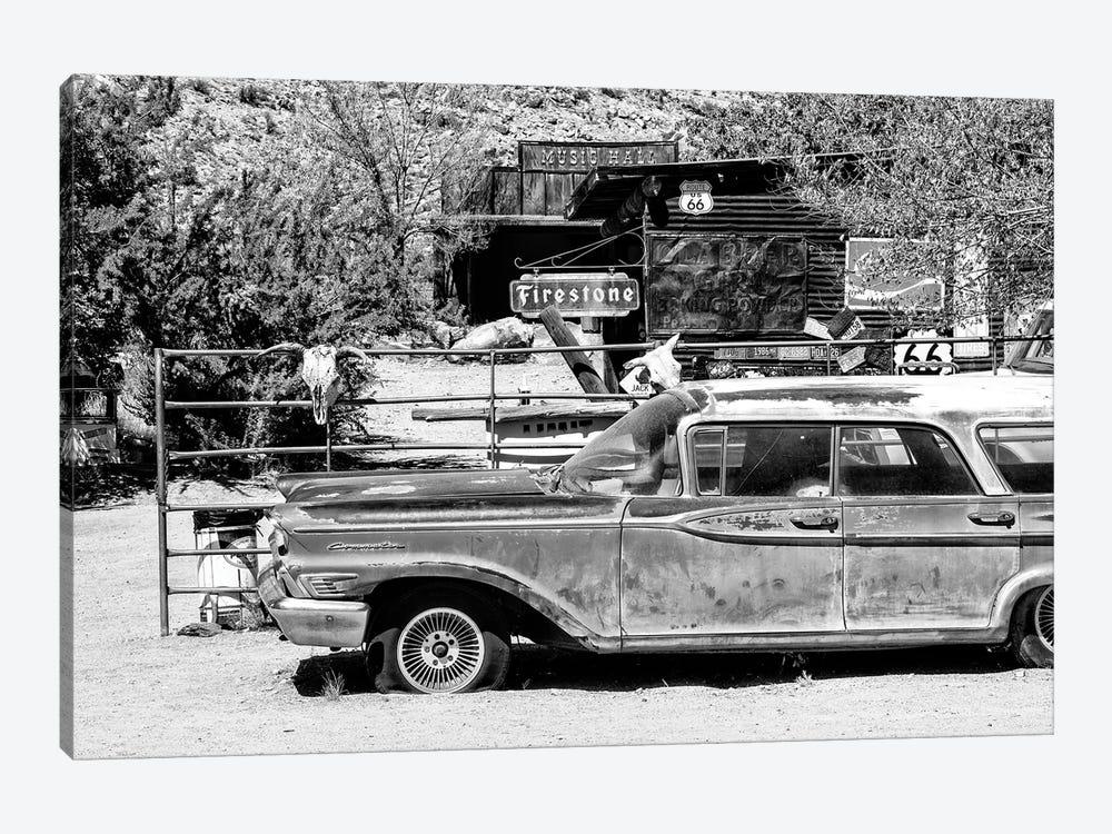 Black Arizona Series - Route 66 Old Car by Philippe Hugonnard 1-piece Canvas Art Print