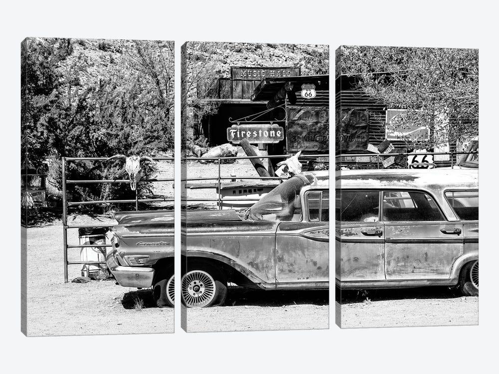 Black Arizona Series - Route 66 Old Car by Philippe Hugonnard 3-piece Art Print