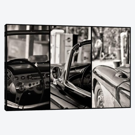 Classic Chevrolet Corvette In Detail Canvas Print #PHD147} by Philippe Hugonnard Canvas Wall Art