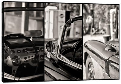 Classic Chevrolet Corvette In Detail Canvas Print #PHD147