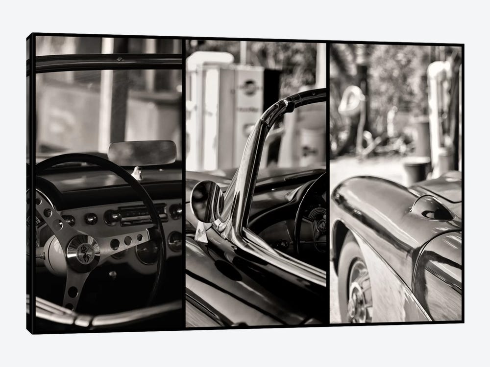 Classic Chevrolet Corvette In Detail by Philippe Hugonnard 1-piece Canvas Wall Art