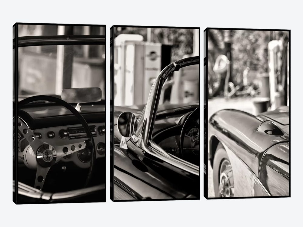 Classic Chevrolet Corvette In Detail by Philippe Hugonnard 3-piece Canvas Art