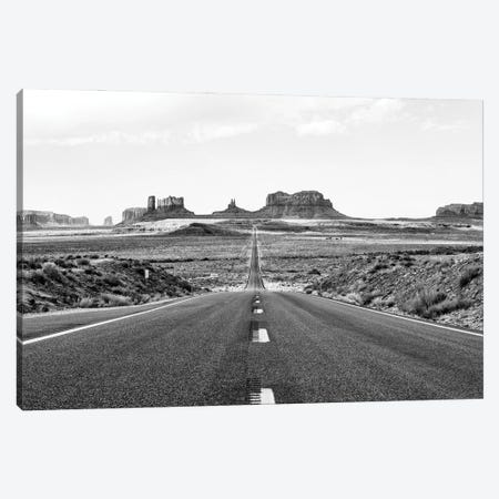 Black Arizona Series - Monument Valley Road Canvas Print #PHD1493} by Philippe Hugonnard Canvas Art