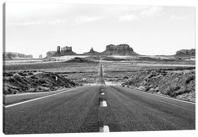 Black Arizona Series - Monument Valley Road Canvas Art Print