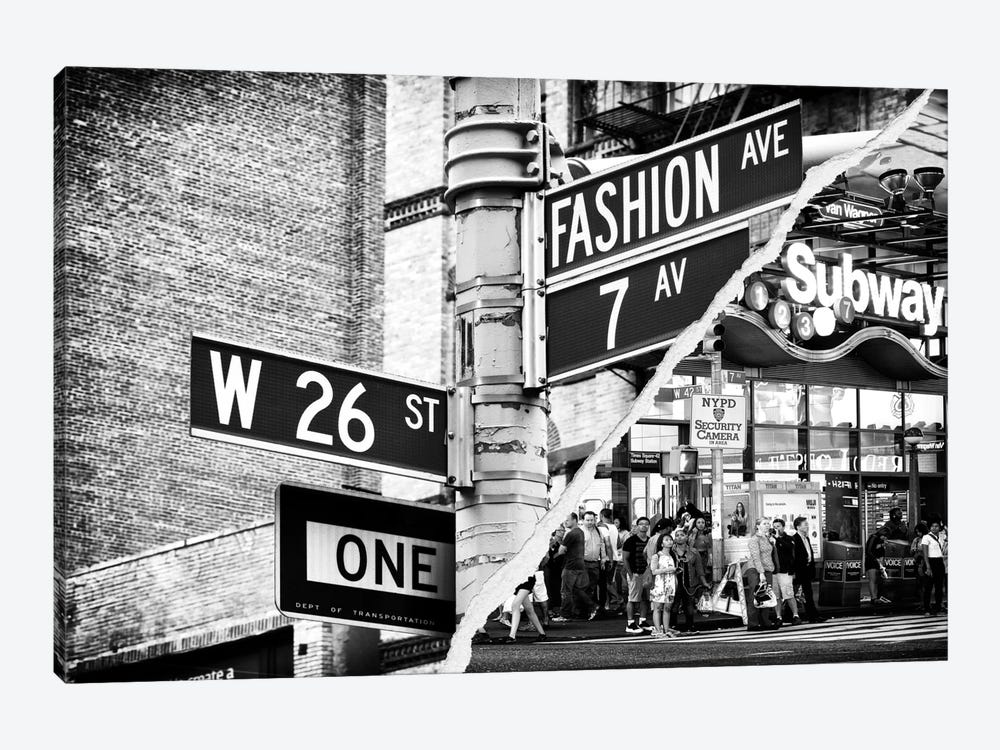 Fashion Signs 1-piece Canvas Print