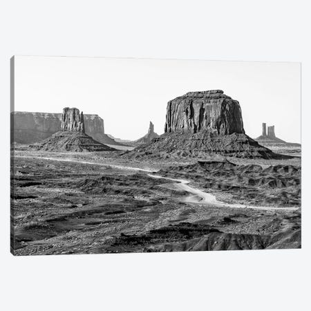 Black Arizona Series - Beautiful Monument Valley Canvas Print #PHD1507} by Philippe Hugonnard Canvas Print
