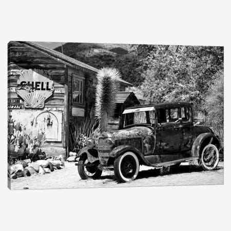 Classic Ford At U.S. Route 66 Fill-Up Station I Canvas Print #PHD150} by Philippe Hugonnard Canvas Wall Art