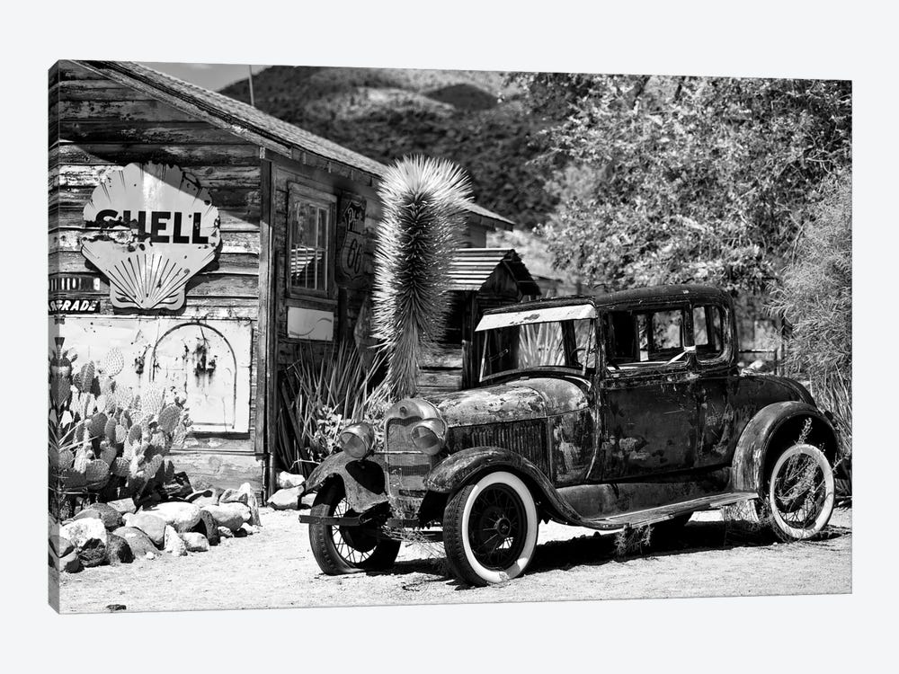 Classic Ford At U.S. Route 66 Fill-Up Station I by Philippe Hugonnard 1-piece Canvas Artwork
