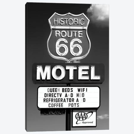 Black Arizona Series - Historic Route 66 Motel Canvas Print #PHD1513} by Philippe Hugonnard Art Print