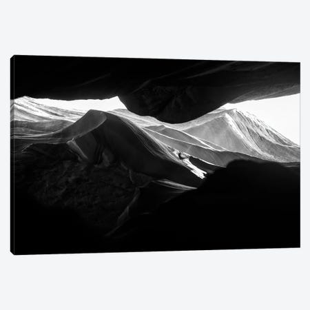 Black Arizona Series - Antelope Canyon Rock Formations Canvas Print #PHD1516} by Philippe Hugonnard Canvas Wall Art