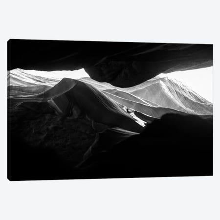 Black Arizona Series - Antelope Canyon Rock Formations Canvas Print #PHD1516} by Philippe Hugonnard Canvas Wall Art