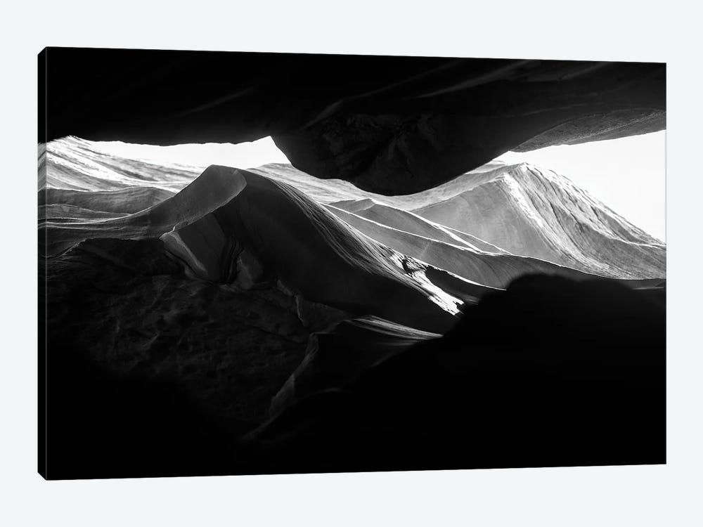 Black Arizona Series - Antelope Canyon Rock Formations by Philippe Hugonnard 1-piece Canvas Art Print