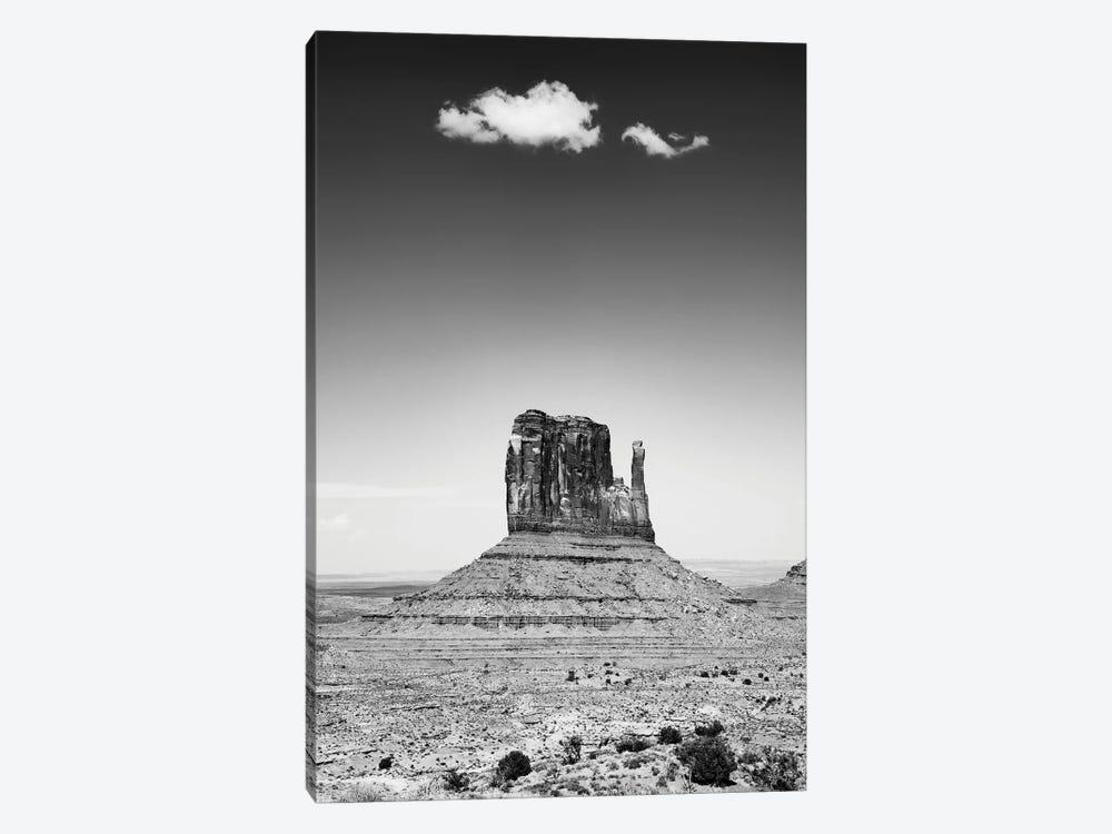 Black Arizona Series - Monument Valley West Mitten Butte by Philippe Hugonnard 1-piece Canvas Art Print