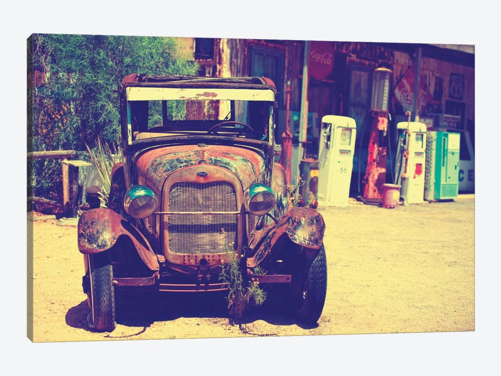 Classic Ford At U.S. Route 66 Fill-Up Station II by Philippe Hugonnard 1-piece Canvas Art Print