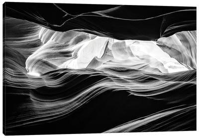 Black Arizona Series - Antelope Canyon Natural Wonder I Canvas Art Print