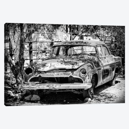 Black Arizona Series - Old Classic Car Canvas Print #PHD1528} by Philippe Hugonnard Canvas Wall Art
