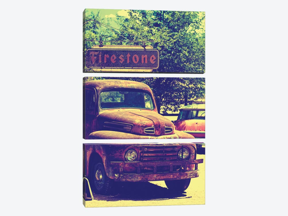 Classic Ford Truck by Philippe Hugonnard 3-piece Canvas Art