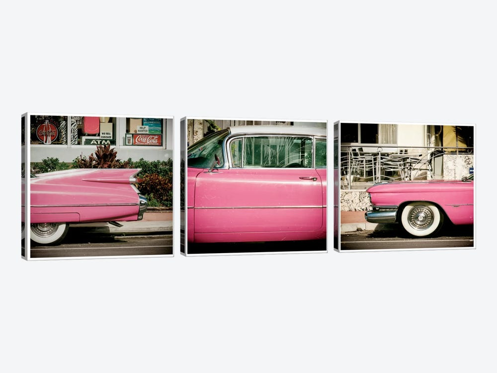 Classic Pink Cadillac by Philippe Hugonnard 3-piece Art Print