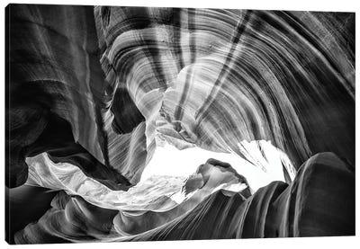 Black Arizona Series - Antelope Canyon Natural Wonder III Canvas Art Print