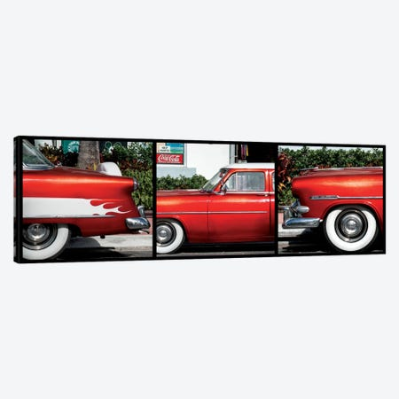 Classic Red Ford Canvas Print #PHD154} by Philippe Hugonnard Canvas Print