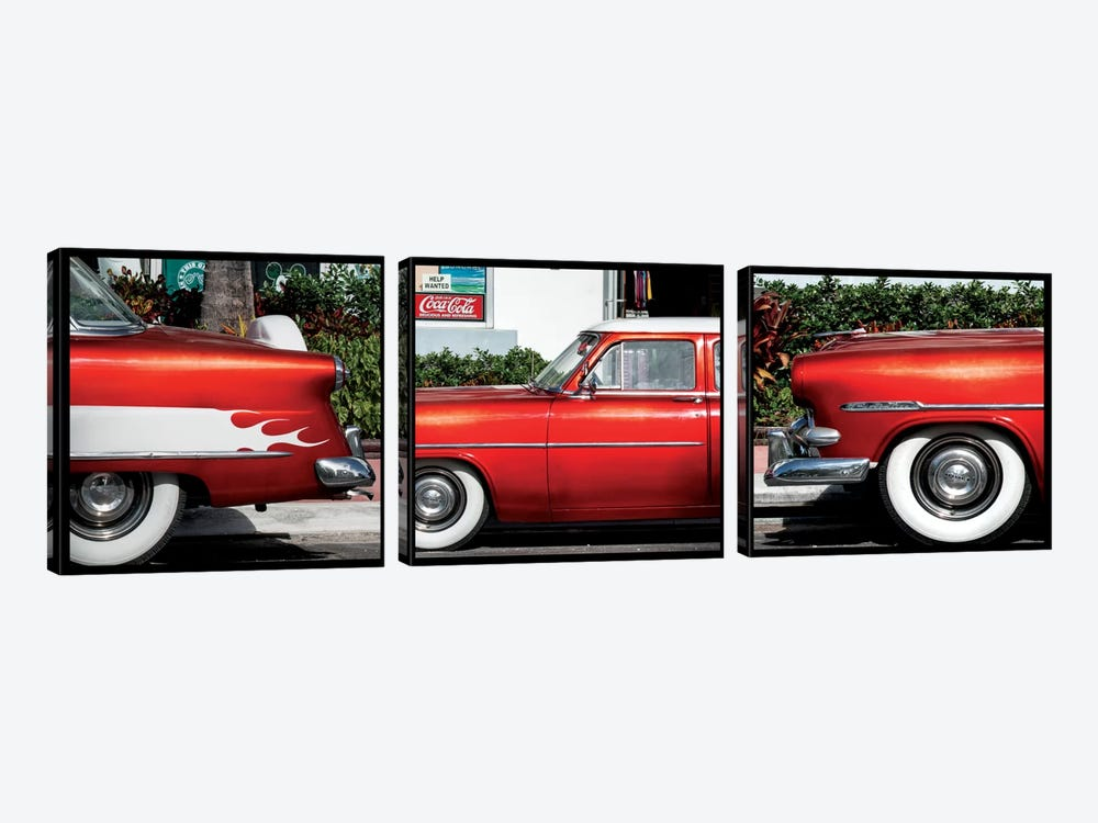 Classic Red Ford by Philippe Hugonnard 3-piece Canvas Artwork