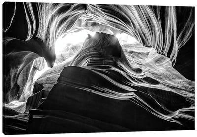 Black Arizona Series - Antelope Canyon Natural Wonder V Canvas Art Print