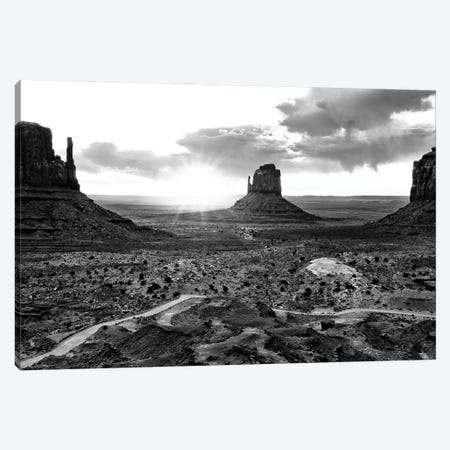 Black Arizona Series - Monument Valley Sunset Canvas Print #PHD1557} by Philippe Hugonnard Canvas Wall Art