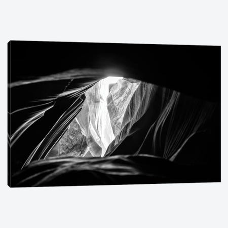 Black Arizona Series - Antelope Canyon Natural Wonder VI Canvas Print #PHD1565} by Philippe Hugonnard Art Print